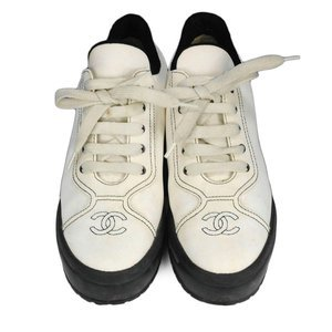 Chanel Vintage Logo Tennis Shoes