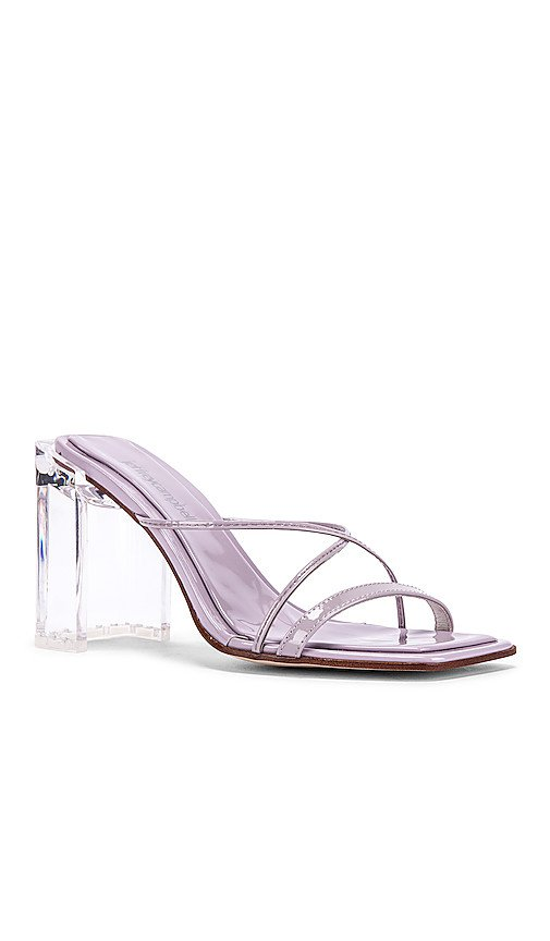 Jeffrey Campbell Mural Hi Heel in Lilac Patent & Clear | REVOLVE