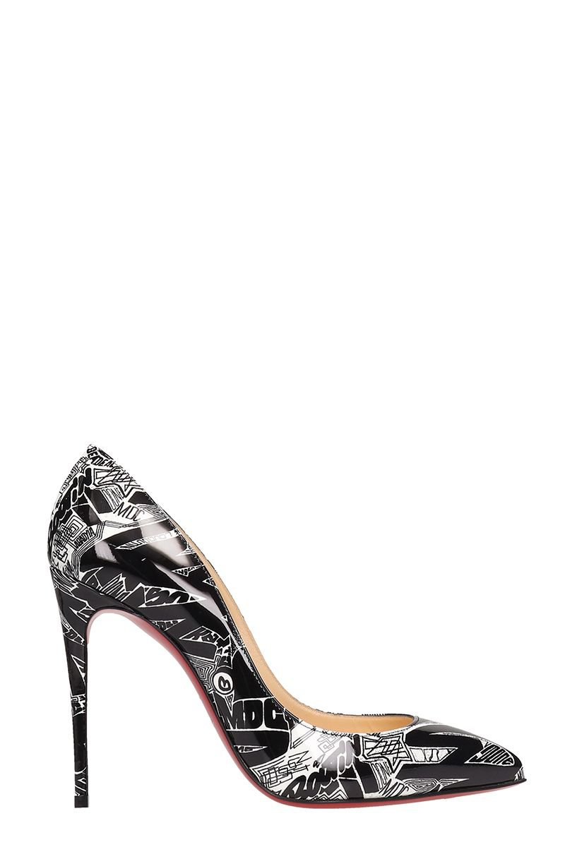 Christian Louboutin Pigalle Follies Patent Nicograf Black Patent Leather Pumps