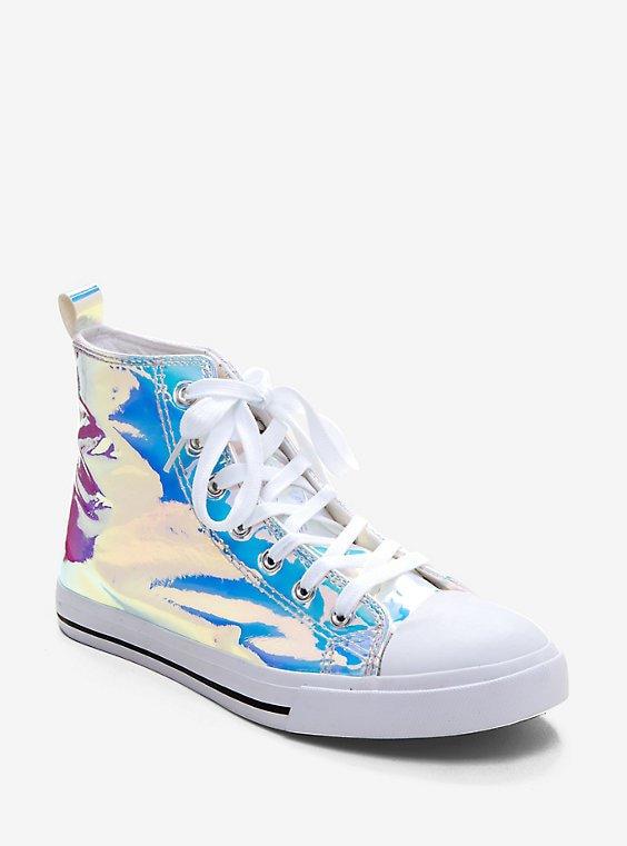 Light Hologram Hi-Top Sneakers