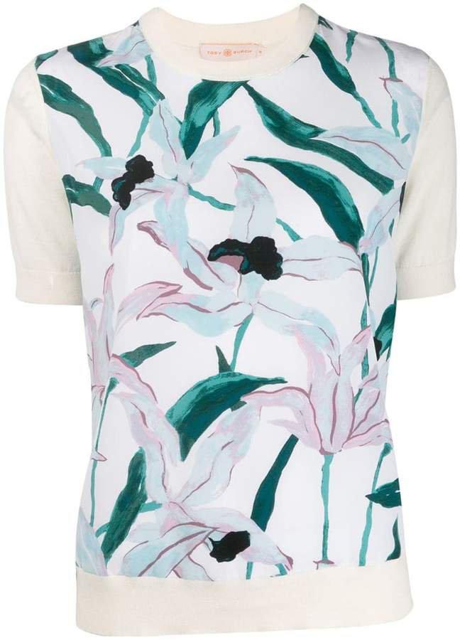 floral short-sleeve top