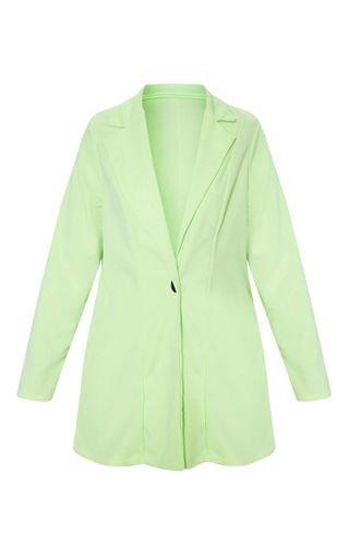Apple Green Oversized Boyfriend Blazer | PrettyLittleThing