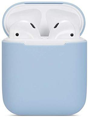 Amazon.com: Airpods Case Soft Silicon Skin and Cover with Utral Slim 0.8mm Compatible Apple Airpods Charging Case - Sky Blue: Cell Phones & Accessories