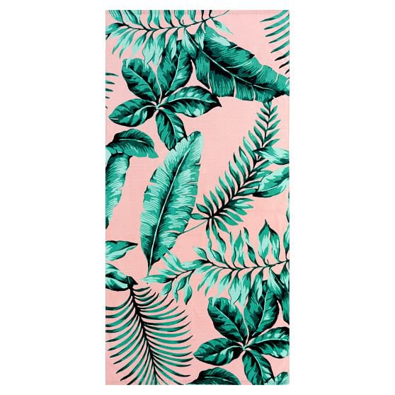 The Emily & Meritt Palm Leaf Beach Towel | Pottery Barn Teen