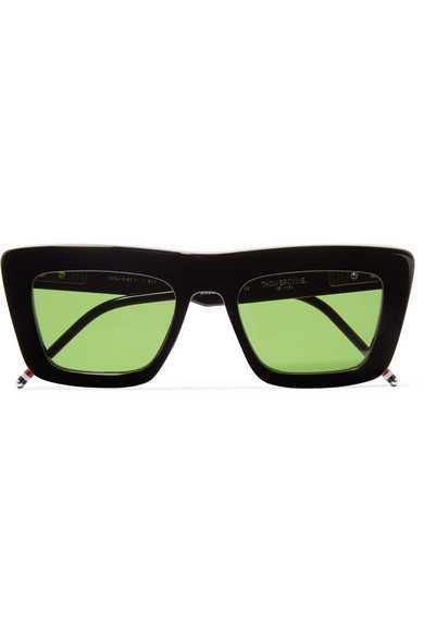 Thom Browne | Square-frame acetate sunglasses | NET-A-PORTER.COM