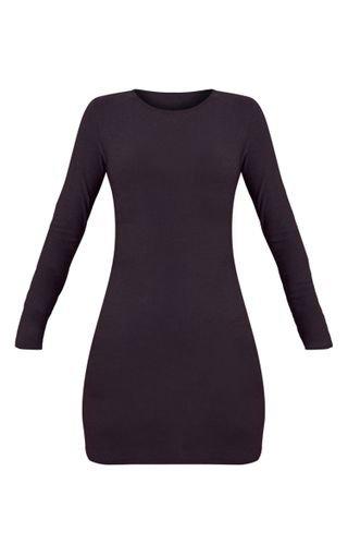 Black Long Sleeve Bodycon Dress | PrettyLittleThing