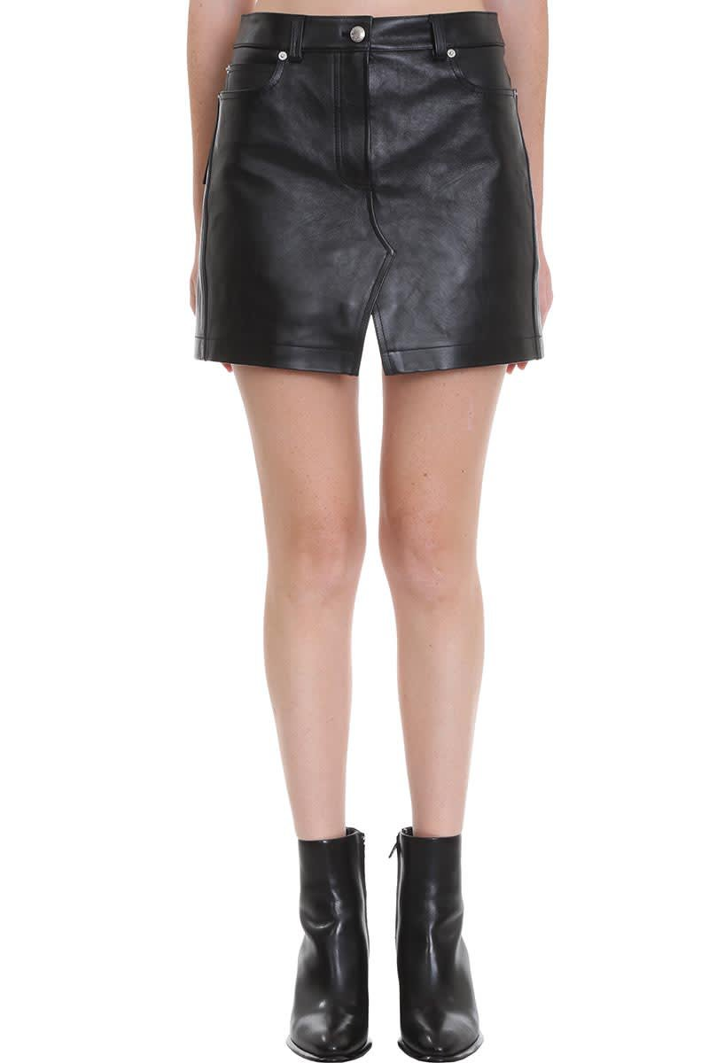 Alexander Wang Shorts In Black Leather