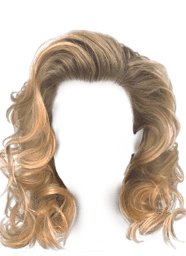 Blond Hair, Blond, Hair, Curly, Wavy, Short Hair, Pictures - 3947 - TransparentPNG