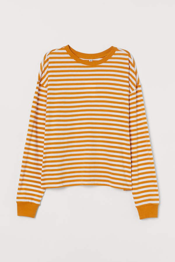 Striped Jersey Top - Yellow