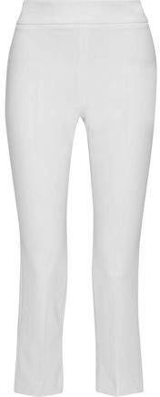 Gelly Cropped Cady Slim-leg Pants