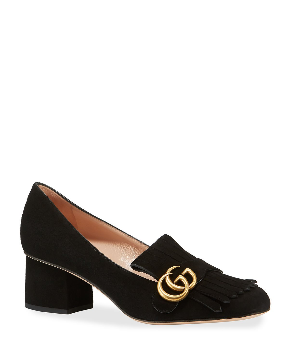 Gucci 55mm Marmont Kiltie Loafer | Neiman Marcus