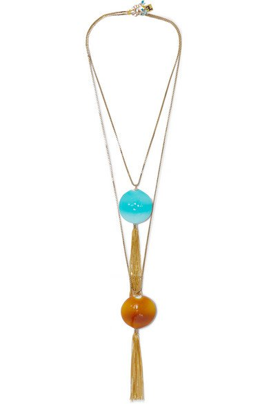 Rosantica | Bolle set of two gold-tone and glass necklaces | NET-A-PORTER.COM