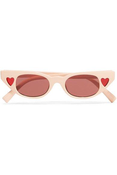 Le Specs | + Adam Selman The Heartbreaker cat-eye acetate sunglasses | NET-A-PORTER.COM