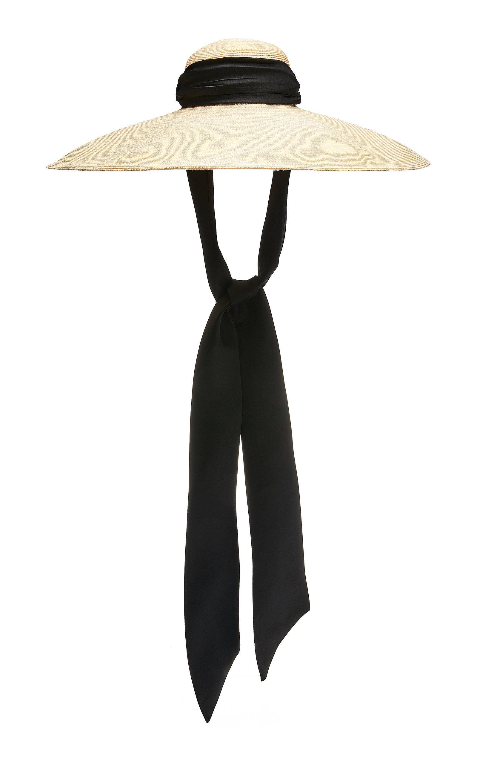 Veruschka Cotton-Trimmed Straw Hat by Eugenia Kim | Moda Operandi