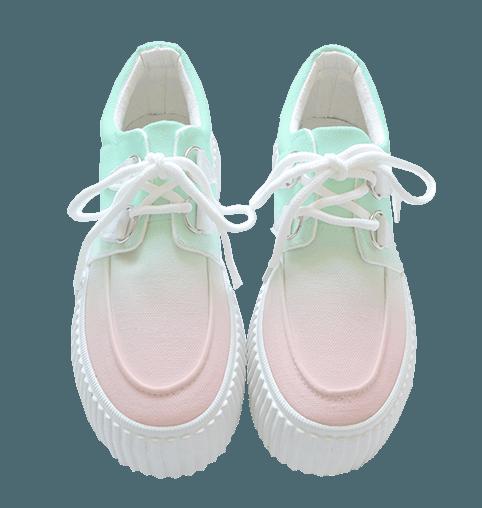 pastel ombre shoes