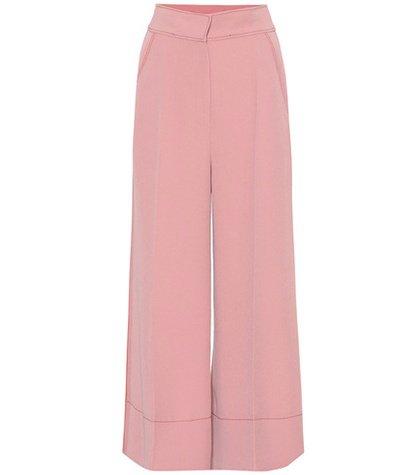 Crêpe wide-leg pants
