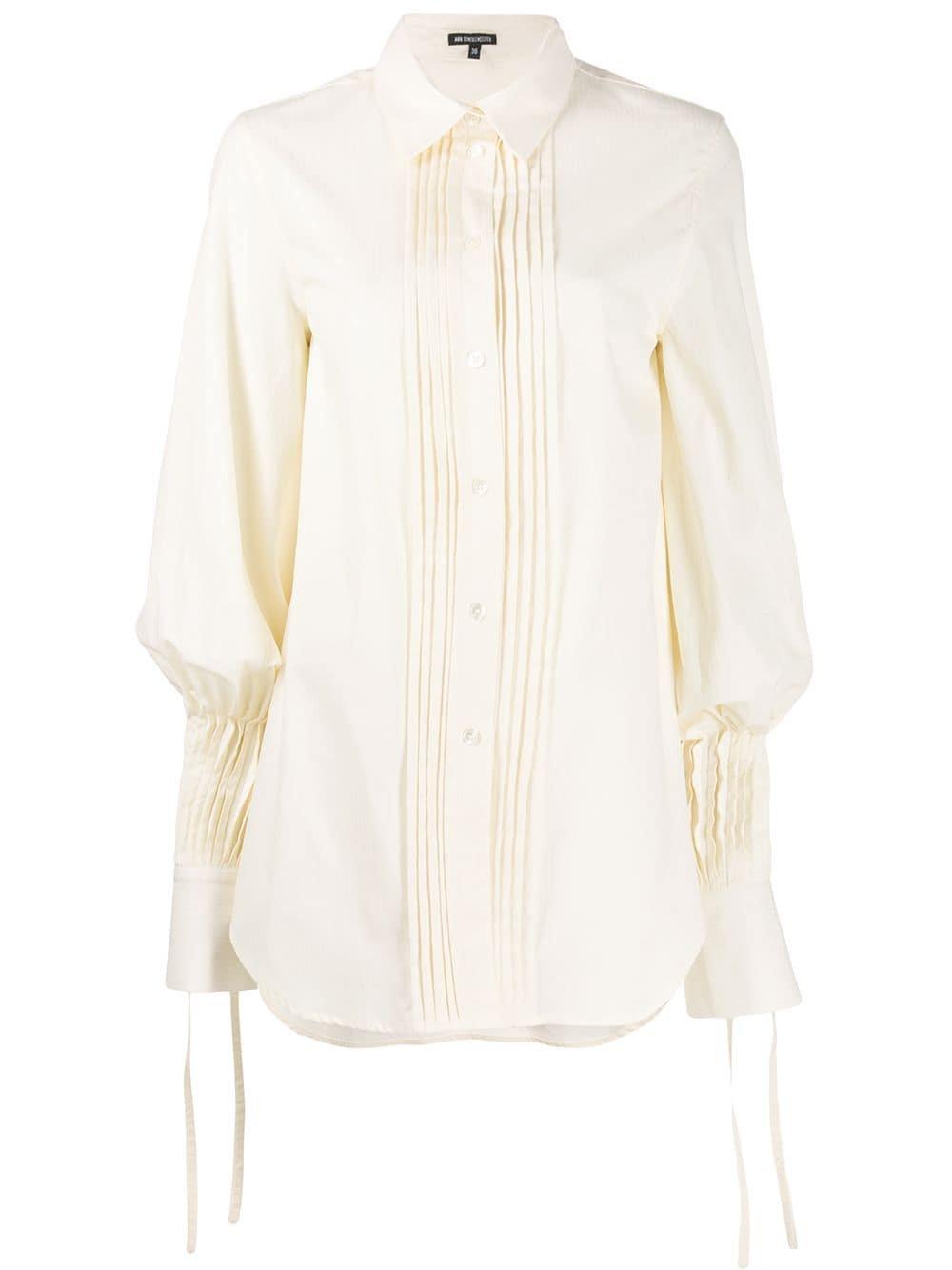 White Ann Demeulemeester Ecru Shirt | Farfetch.com