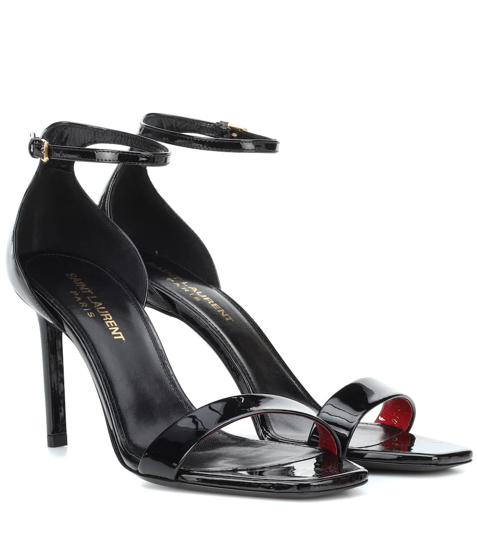 Amber 85 Patent Leather Sandals | Saint Laurent - mytheresa