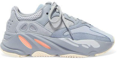 Yeezy Boost 700 Suede, Leather And Mesh Sneakers - Gray