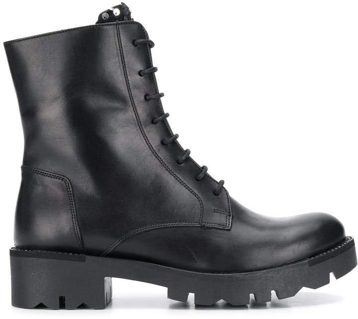 sequin embellished biker boots