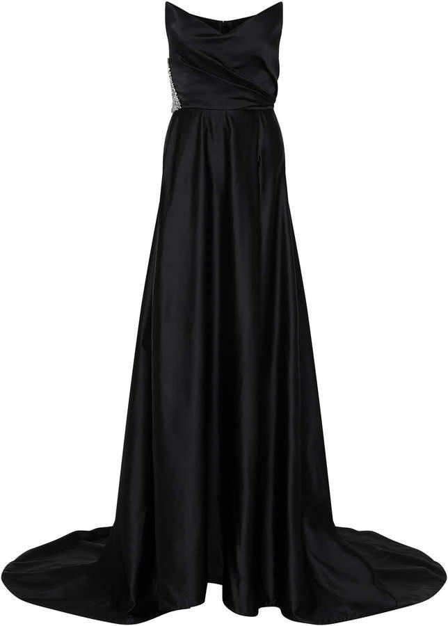 Odella Embellished Duchess Satin Gown