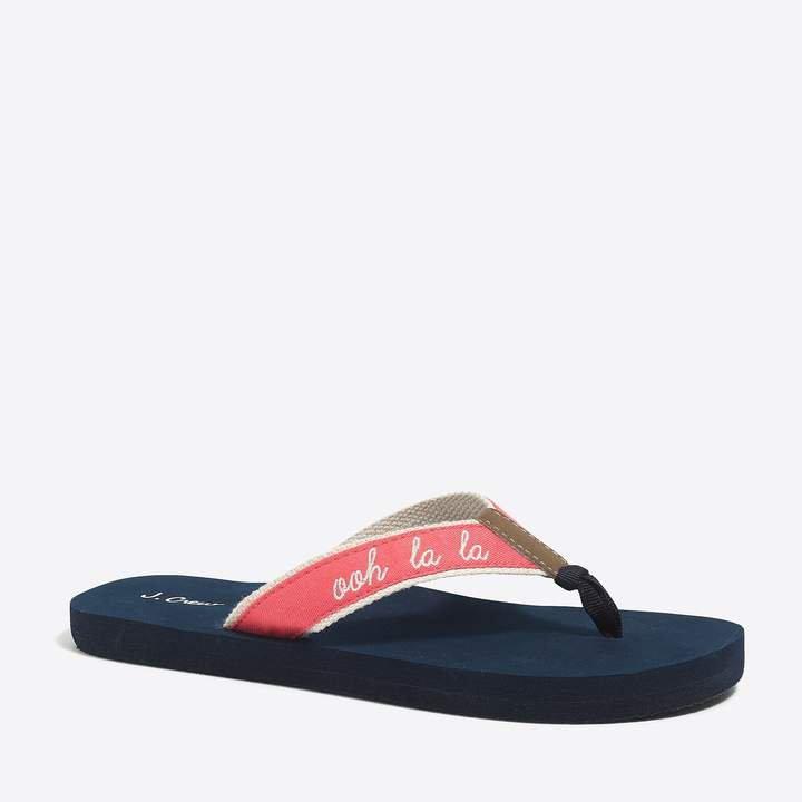 Embroidered flip-flops