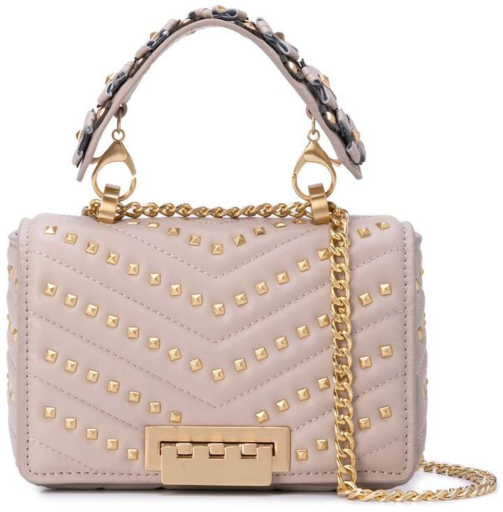 Earthette mini studded shoulder bag