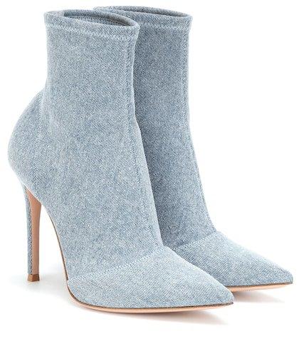 Elite denim ankle boots