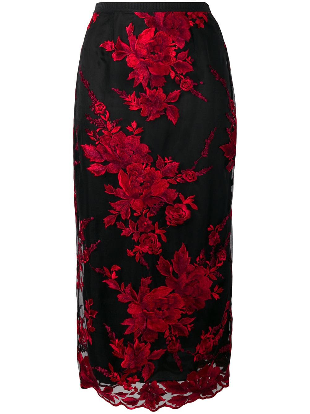 Antonio Marras floral embroidered pencil skirt £754 - Shop Online SS19. Same Day Delivery in London