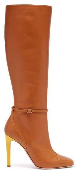 X Roksanda Rhonda Leather Boots - Womens - Tan