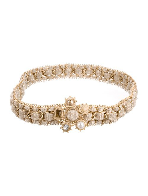 Chanel Gripoix Tweed Chain Belt - Accessories - CHA293115 | The RealReal