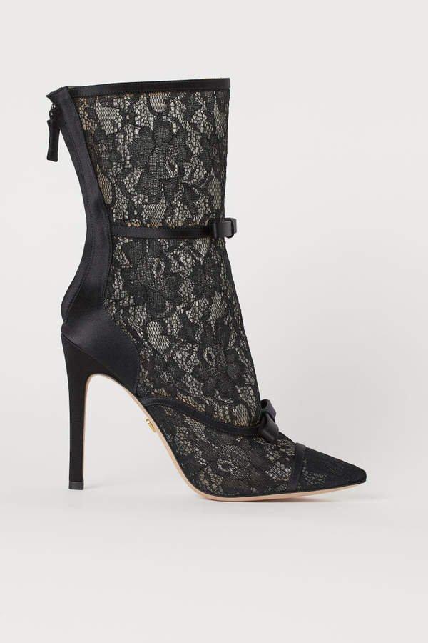Lace Boots - Black