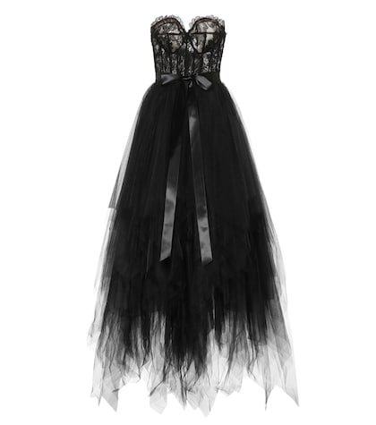 Corded lace and tulle gown