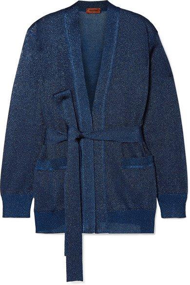 Missoni | Belted Lurex cardigan | NET-A-PORTER.COM