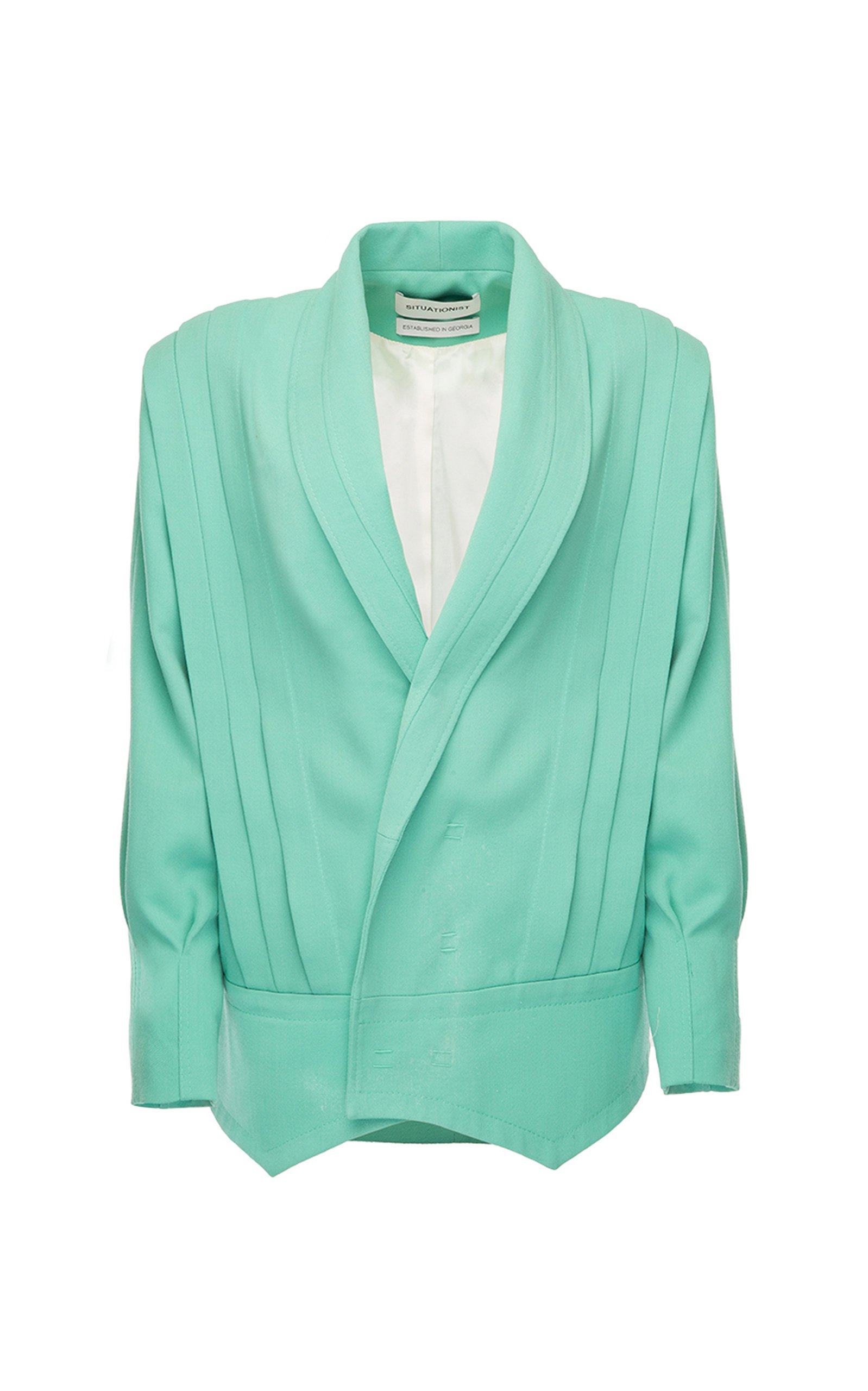 SITUATIONIST Panneled Wool Blazer Jacket
