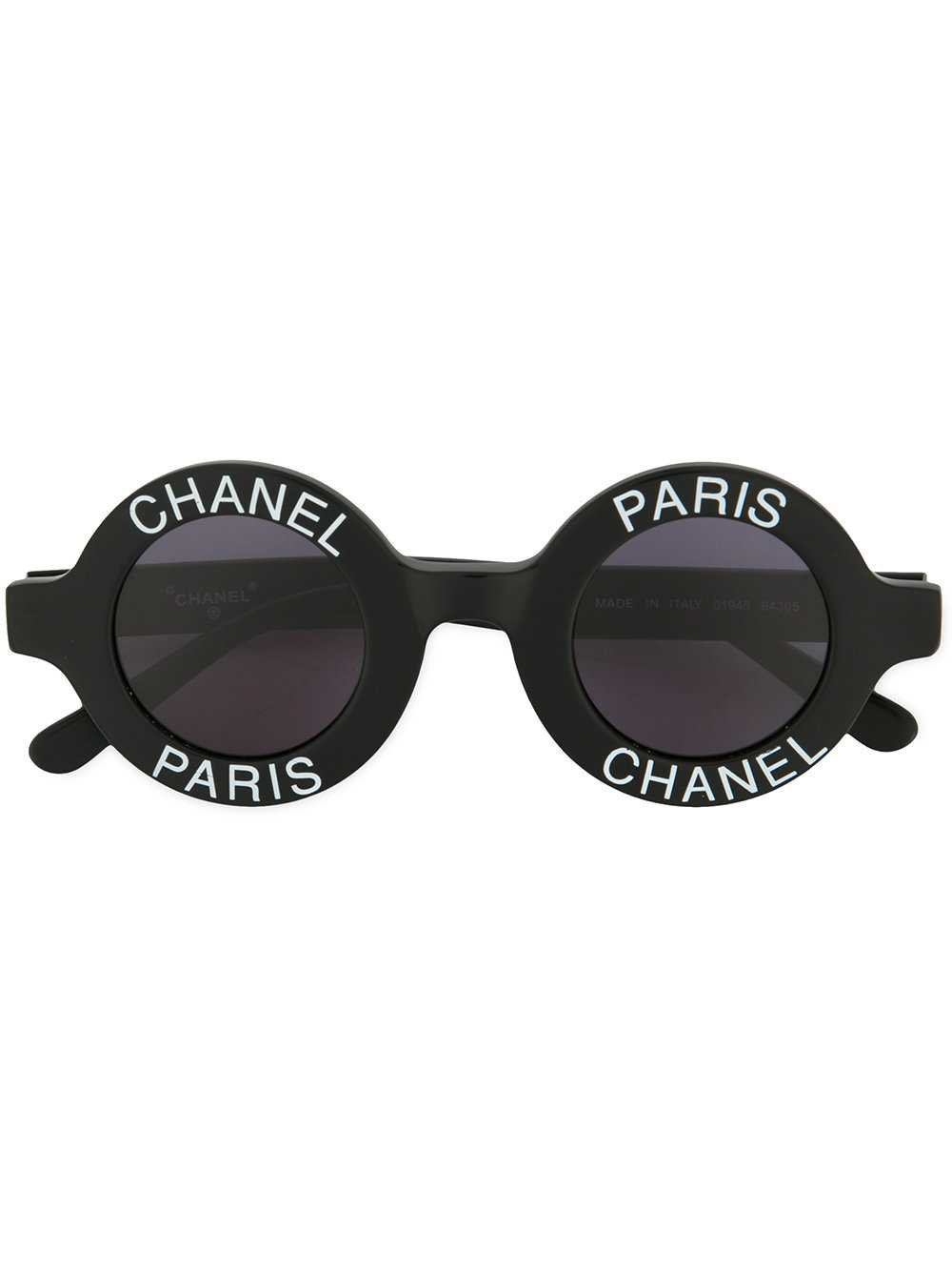 Chanel Vintage Logo Stamp Round Sunglasses - Farfetch