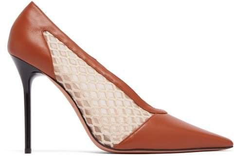 Peppino Leather & Mesh Pumps - Womens - Tan White