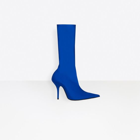 Women's Royal Blue Knife Booties | Balenciaga