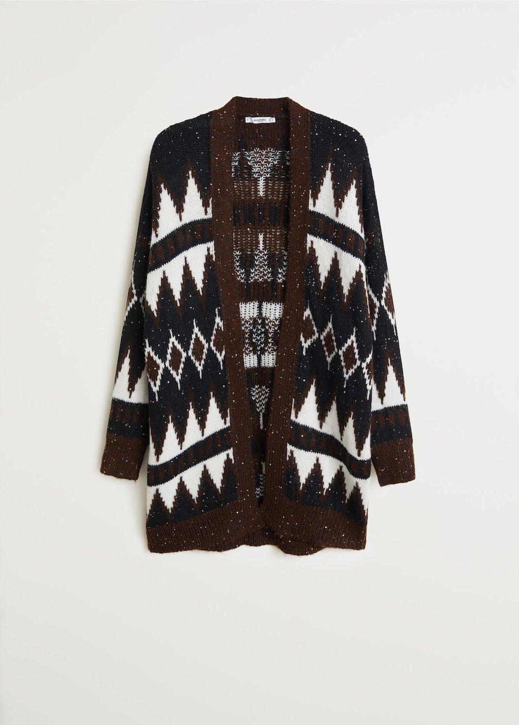 Paillettes knit cardigan - Women | Mango USA