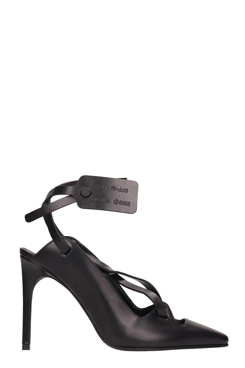 Off-White Warden Strapped Ankle Tag Pumps