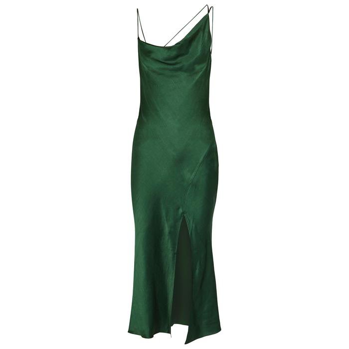 Bec & Bridge. Women's Martini Forest Green Satin Slip Dress