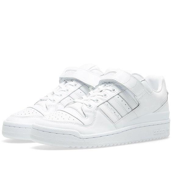 Adidas Forum Lo Refined White & Core Black   END.