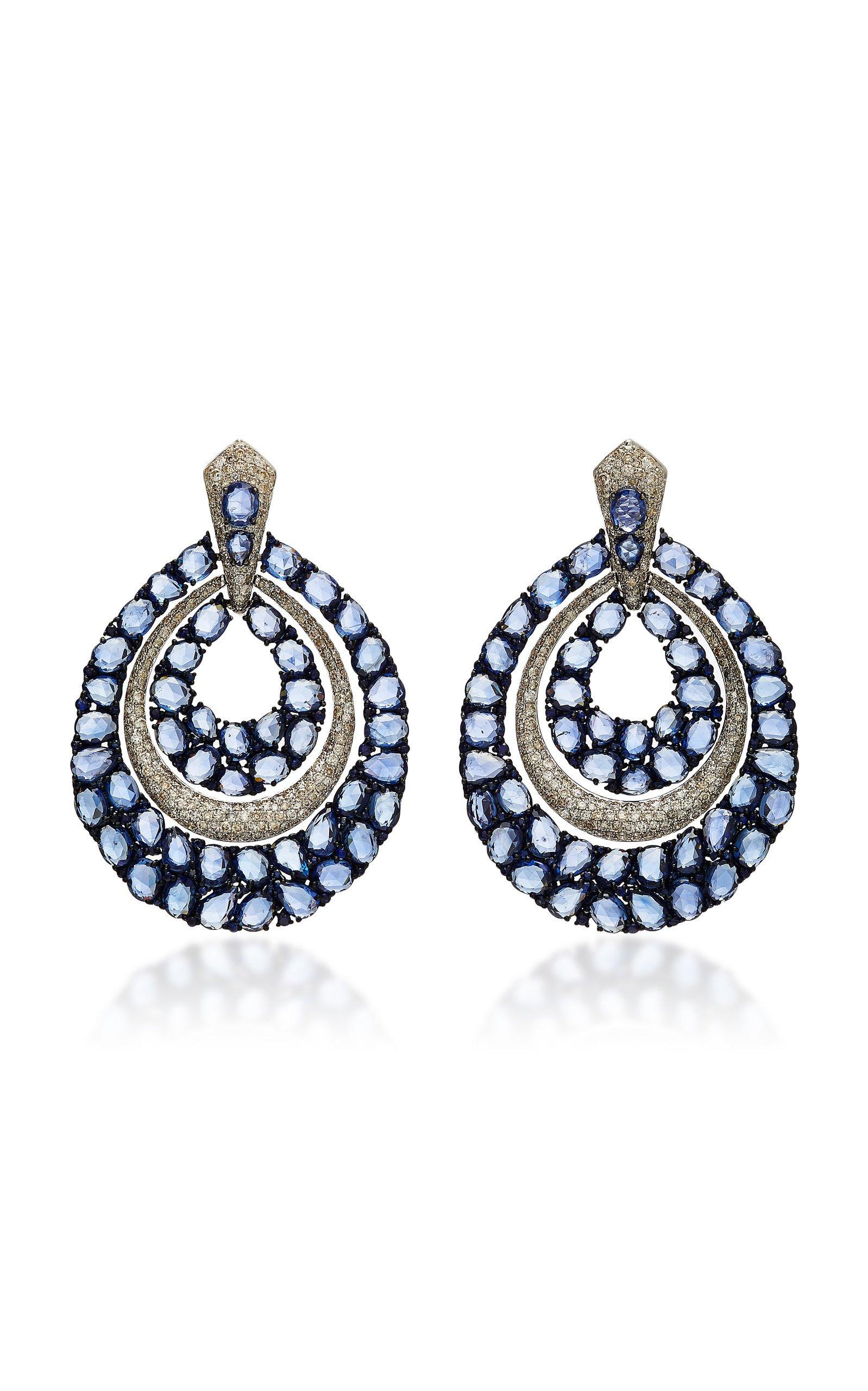 Sutra Sapphire Large Hoop Earrings