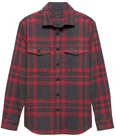 Slim Flannel Shirt Jacket