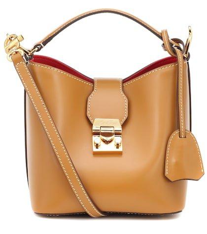 Murphy Mini leather bucket bag
