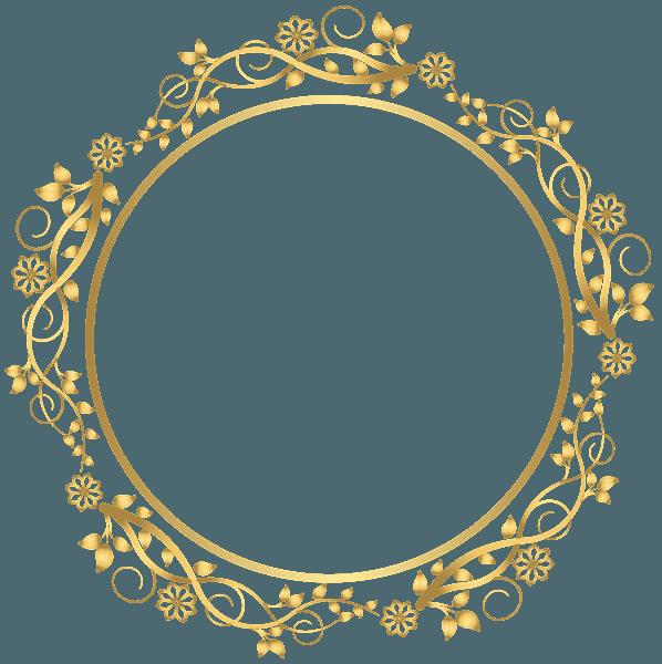 Gold Circle Frame (png)
