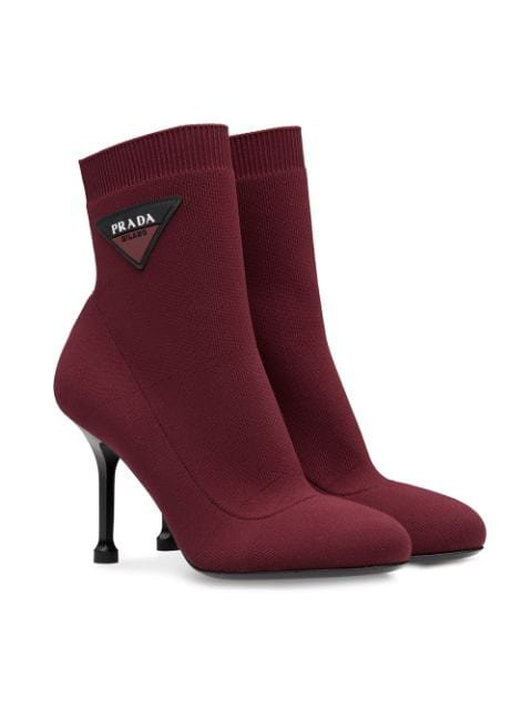 Prada Stretch Fabric Booties - Farfetch