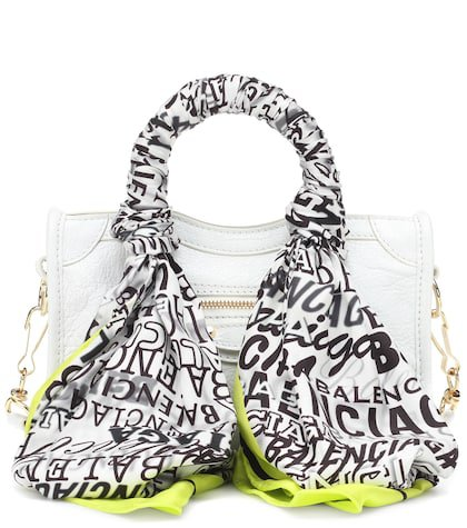Classic City Scarf Nano leather tote