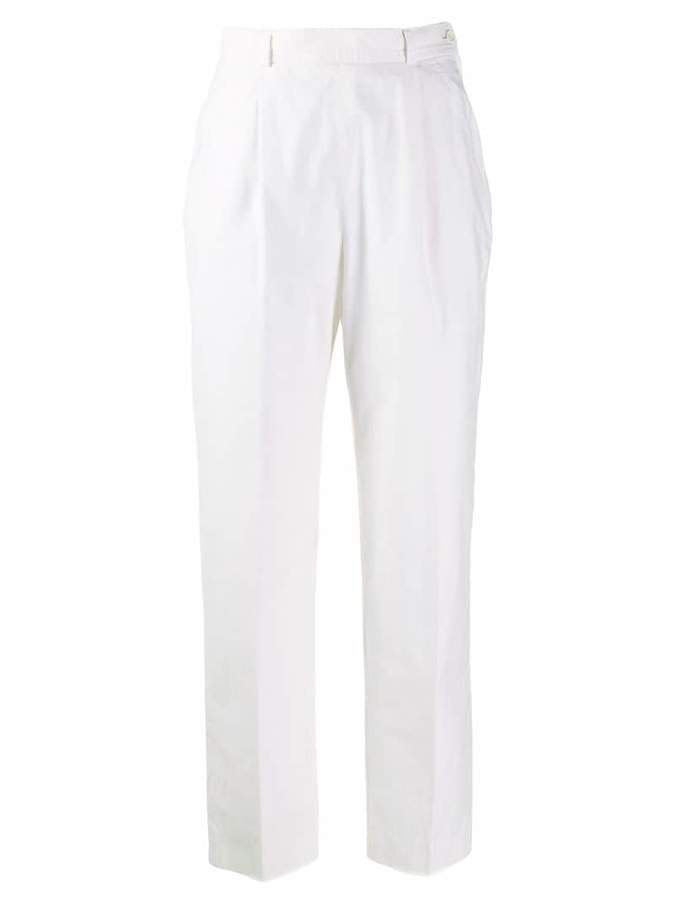 Pre-Owned 1970's high rise tapered trousers