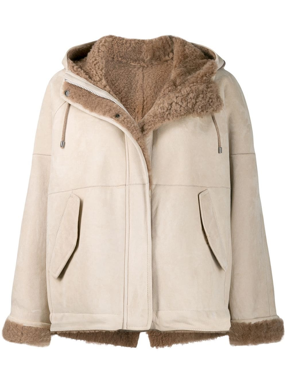 Brunello Cucinelli Hooded Shearling Jacket